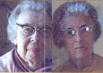 Two grey haired old ladies with glasses