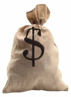 A sack with a dollar sign on it