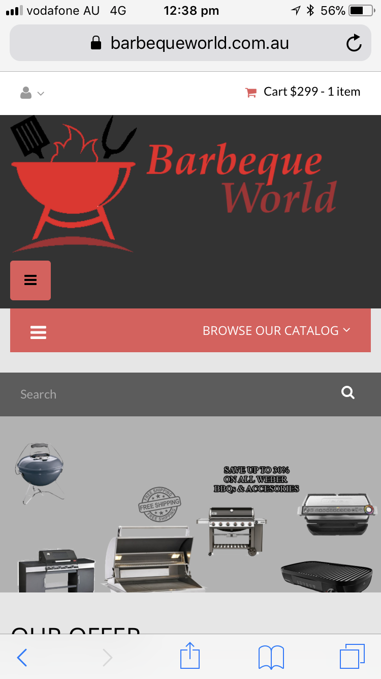 Fake barbecue product website