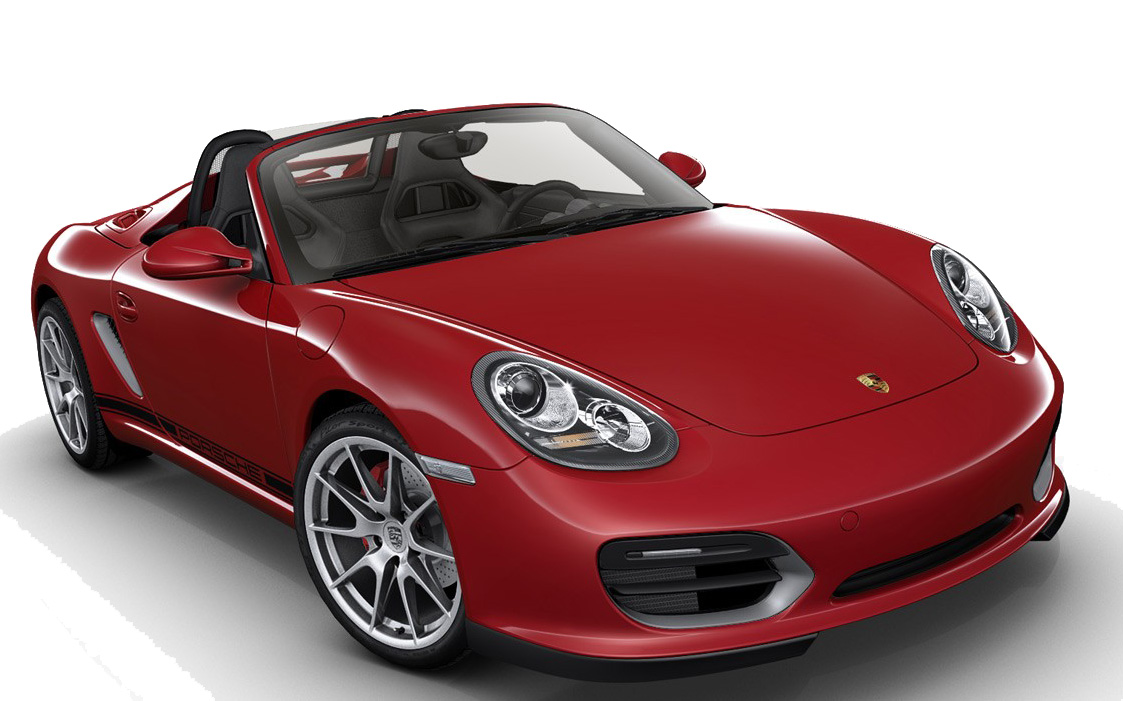 A bright red  2011 Porsche Boxster