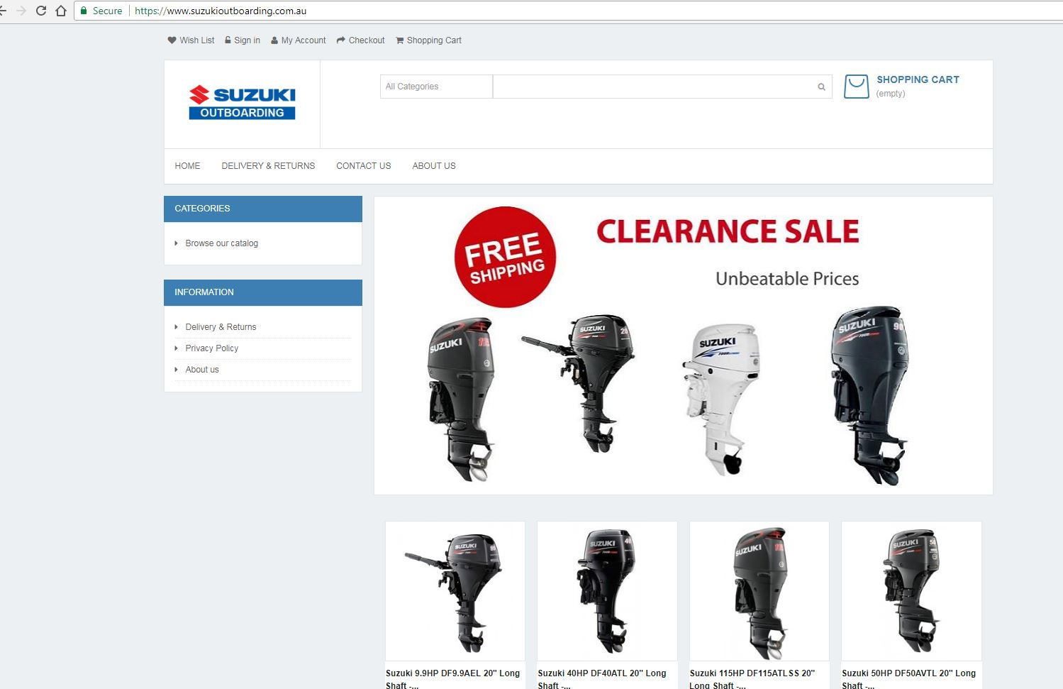 Fake Suzuki Outboard Motor Website