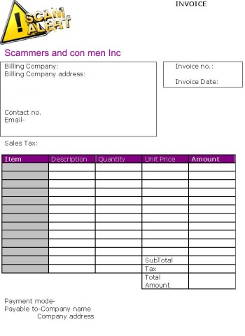 Scamnet for Interior design invoice template excel