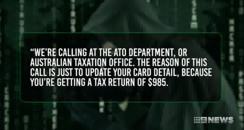 ATO Scam - Channel 9 (13/05/2017)