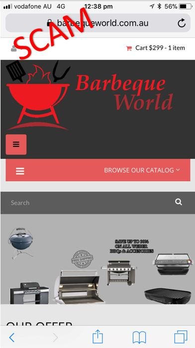 Fake barbecue product websites