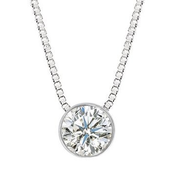 A diamond pendant on a diamante chain