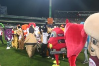 All the mascots grouped together