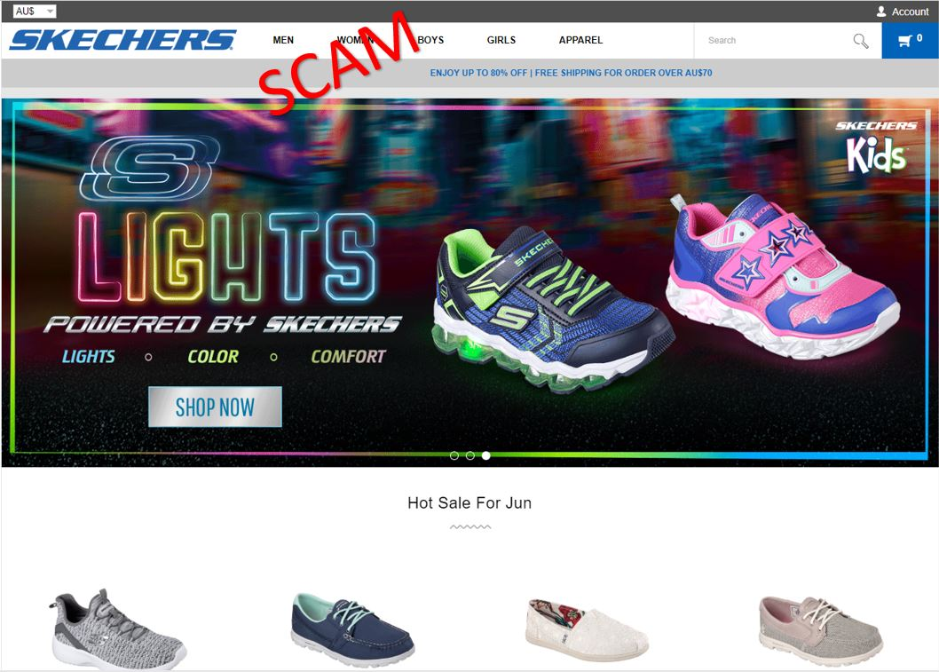 Buyer beware fake websites