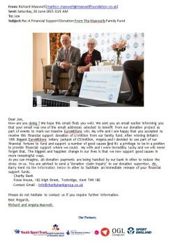 The Maxwells Fund scam email 2