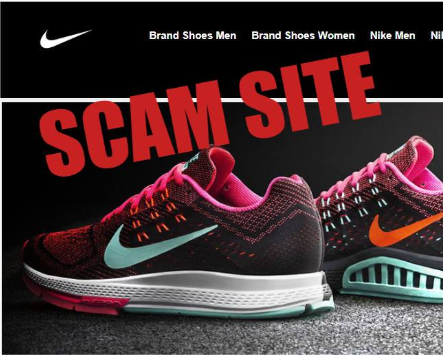 fake shopping website screenshot with copy scam site