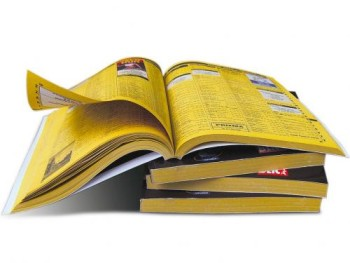 The yellow pages open