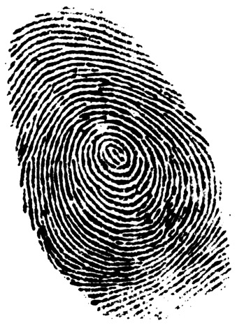 A black fingerprint